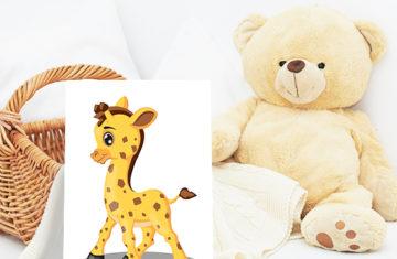 żyrafa obrazek na ścianę do dziecięcego pokoju