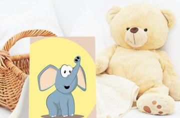 słoń obrazek na ścianę do pokoju dziecka