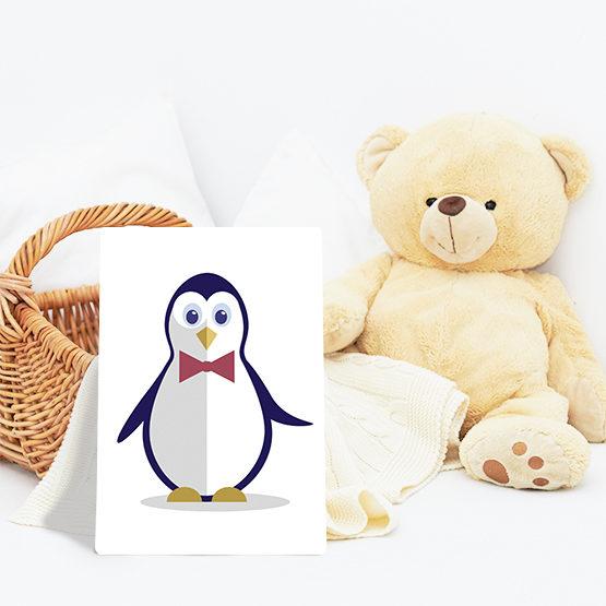 pingwin dziecięcy plakat