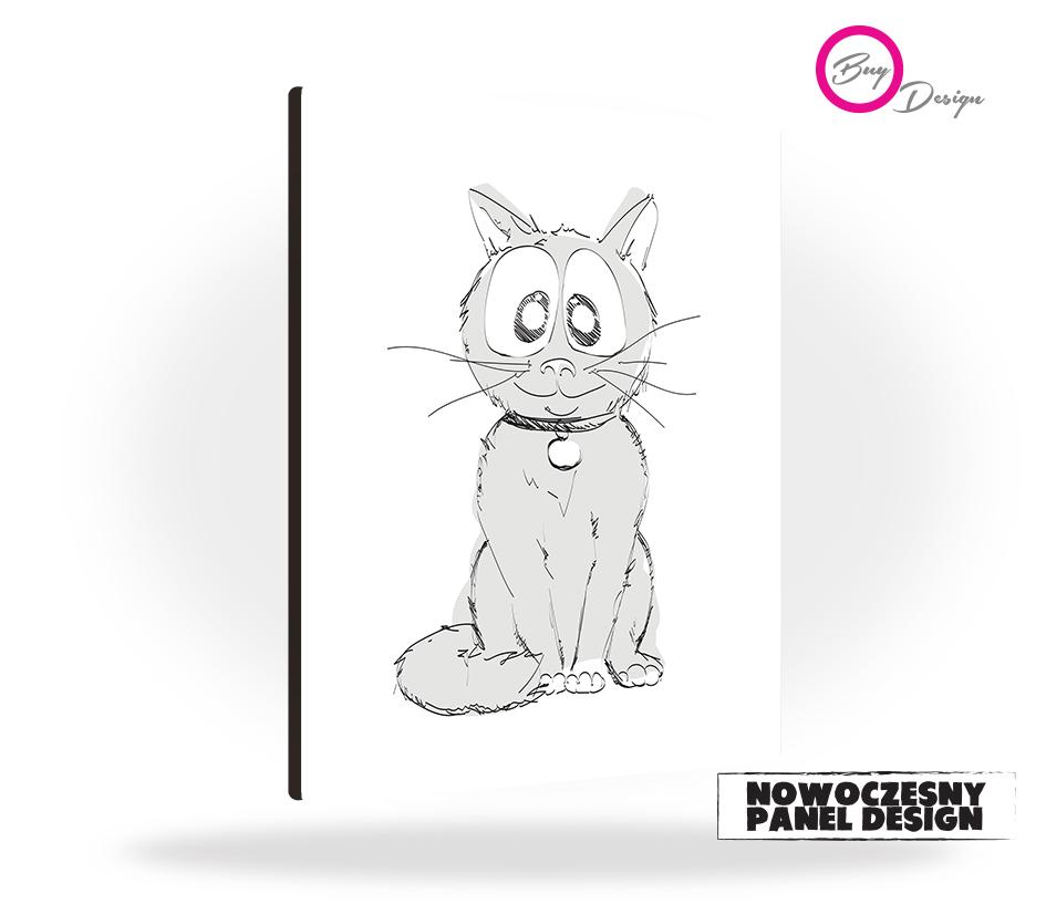 Kot dekoracja dziecięca panel design