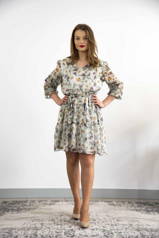 szyfonowa sukienka plus size