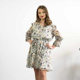 seledynowa szyfonowa sukienka