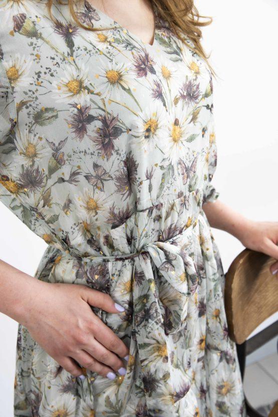 sukienka w kwiatowy wzór
