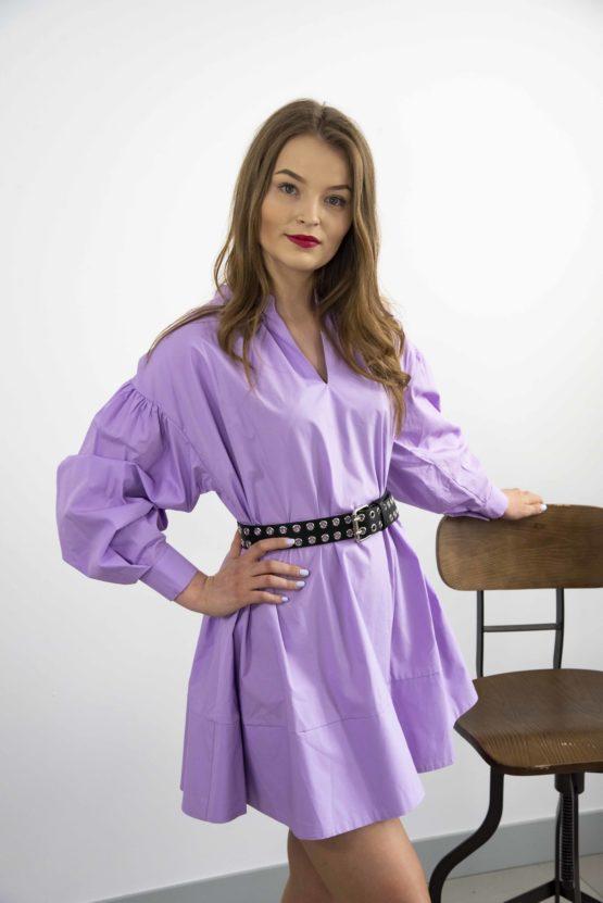 popelinowa sukienka mini