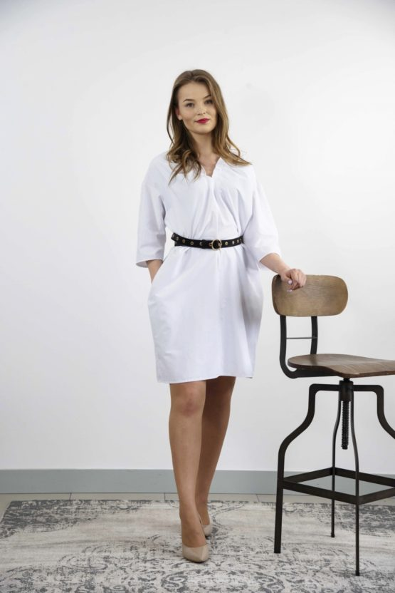 biała sukienka xxl