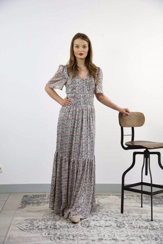 efektowna długa sukienka