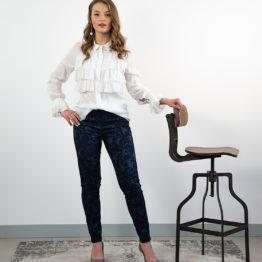 eleganckie żakardowe spodnie