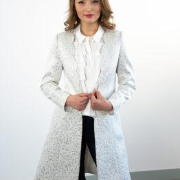 elegancki płaszczyk z srebrną nitką