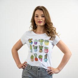 koszulka w kaktusy