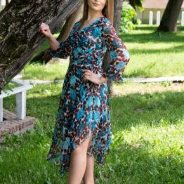 jedwabna asymetryczna sukienka