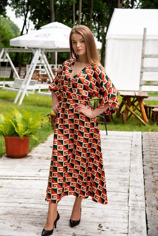 elegancka sukienka jedwab