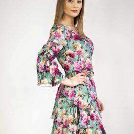 Sukienka w kwiaty jedwab