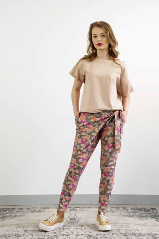 spodnie dresowe z wiązaniem