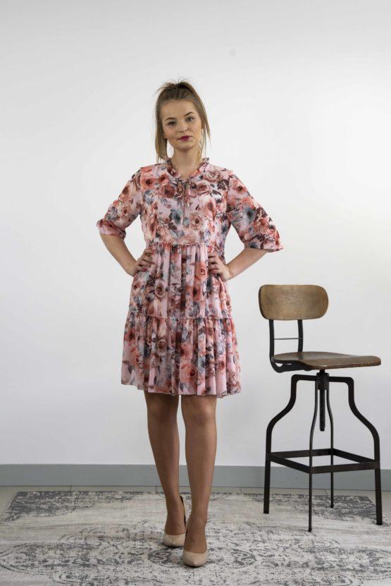 szyfonowa sukienka mini
