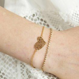 Podwójna złota bransoletka