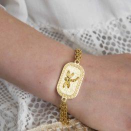 złota bransoletka ważka