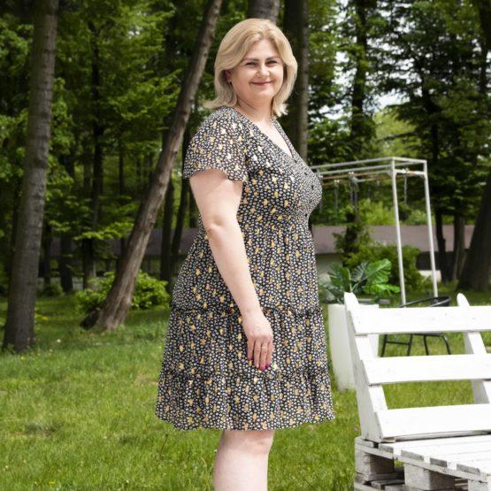 Sukienka mini złote kropki Tallasa