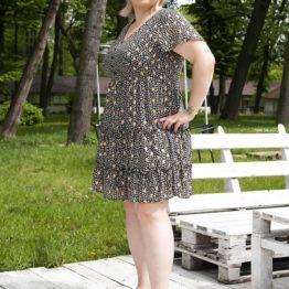 krótka sukienka rozmiar 44