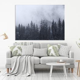 niebieski plakat natura las