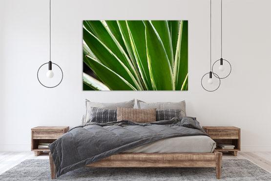 zielone liście plakat botaniczny
